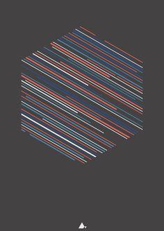 Hexagonal XI (60x80 cm)
