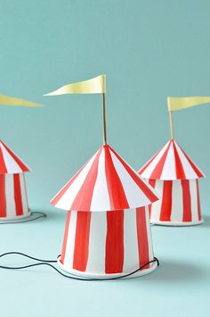 DIY Circus Party Hats - Oh Happy Day!