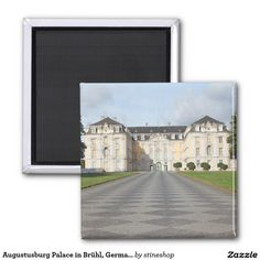 Augustusburg Palace in Brühl, Germany 2 Inch Square Magnet #sold on #zazzle