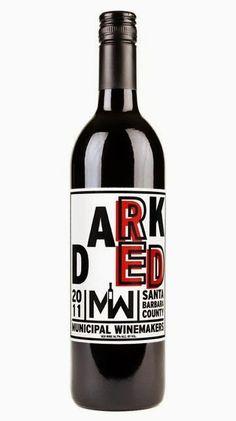 Wine Labels PD - 2013 Dark Red from Municipal Winemakers Santa Barbara