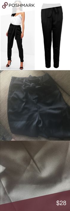 NWT Satin Trousers Brand new! Posh resale because they are to small! 😞Super cute pants! Pants Trousers