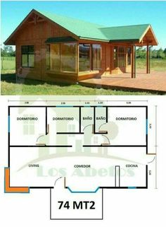 House plans architecture layout Ideas - My ideas House In The Woods, My House, Casas Containers, Cottage Plan, Building A Shed, Building Plans, Wooden House, Small House Plans, Shed Plans
