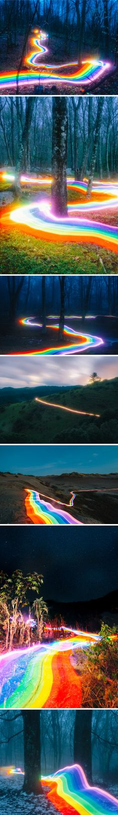 """Rainbow Roads"" - photography by daniel mercadante"