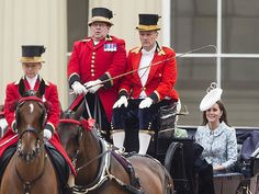 Kate's Back! The Best Photos from Trooping the Colour | Princess Kate | Princess Kate gets the royal treatment in a horse-drawn carriage in her first public appearance since giving birth to Princess Charlotte.