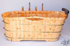 "ALFI Brand AB1136 61"" Cedar Soaking Bathtub for Freestanding Installations with Natural Wood Tub Soaking Freestanding"