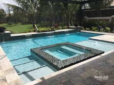 Dream Home - Finca Residential Pool Builder in Southwest Florida Backyard Pool Landscaping, Backyard Pool Designs, Small Backyard Pools, Swimming Pools Backyard, Swimming Pool Designs, Pool Spa, Swimming Pool Fountains, Lap Pools, Indoor Pools