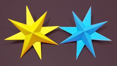 How To Make Christmas Ornaments Decor Star With Paper - Origami Tutorial- How to fold an Easy Origami Paper Star - How to make Simple Paper Stars, easy. 3d Paper Star, 3d Star, Paper Stars, Christmas Ornaments To Make, Christmas Crafts, Christmas Decorations, 3d Pattern, Applique Patterns, Origami Tutorial
