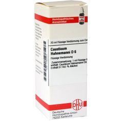 CAUSTICUM HAHNEMANNI D 6 Dilution:   Packungsinhalt: 20 ml Dilution PZN: 01764343 Hersteller: DHU-Arzneimittel GmbH & Co. KG Preis: 5,64…