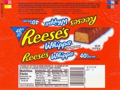 Reese's Candy Bar | Back to the Reese's Wrappers Page.
