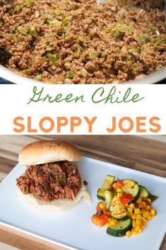 New Mexican food - Green Chile Sloppy Joes