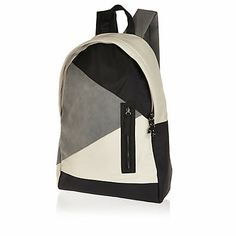 Grey patchwork rucksack - rucksacks #riverisland #rimenswear