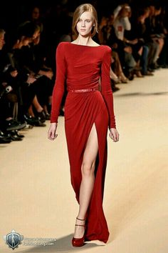 Ellie Saab...sexy red dress <3   Reception dress?