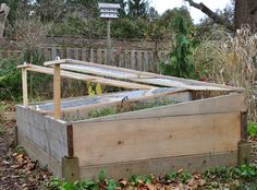 Building a Removable Cold Frame for your Raised Bed Garden