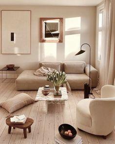 Living Room Inspiration, Interior Design Inspiration, Home Decor Inspiration, Home Interior Design, Appartement Design, Interior Exterior, Wabi Sabi, Home And Living, Living Room Decor