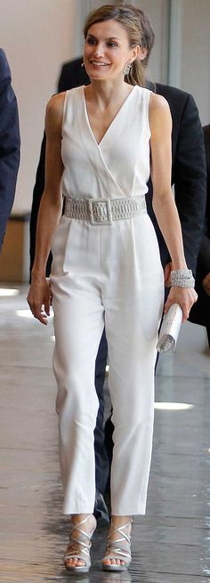 29 June 2017 - Queen Letizia and King Felipe deliver Awards - jumpsuit by Massimo Dutti, sandals by Magrit Queen Letizia, Playsuit, Winter Fashion, Ready To Wear, Outfits, Womens Fashion, Runway Fashion, Paris Fashion, My Style