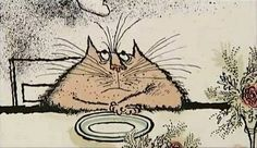 A marvellous cat courtesy of Ronald Searle