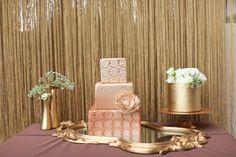 gold wedding cake, ombre wedding cake, dessert station, gold wedding details