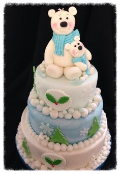 Polar bears - Cake by Two bees treat boutique