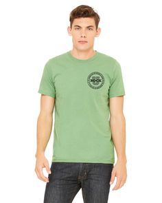 U Rock Unisex T-Shirt Front Crest 3001c with Logo on Back