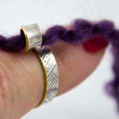 The original 2 loop knitting rings as seen in Knitscene magazine winter knitting rings, crochet rings, knitting accessories, gifts Crochet Tools, Crochet Yarn, Knitting Yarn, Knitting Patterns, Crochet Patterns, Crochet Tutorials, Crochet Rings, Simply Knitting, Knitting Magazine