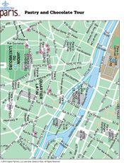 Guided Paris Walking Tour Map: Best Paris Travel Guide PDF Maps. Pastry and Chocolates Tour