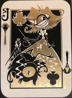 "MalthusArts — First Joker (""Voodoo Strings"") Hazbin Hotel Cards. Vocaloid, Monster Hotel, Hotel Card, Horror Drawing, H Hotel, Alastor Hazbin Hotel, Hotel Trivago, Vivziepop Hazbin Hotel, Angel Dust"