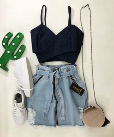 Girls Fashion Clothes, Teen Fashion Outfits, Edgy Outfits, Mode Outfits, Retro Outfits, Cute Casual Outfits, Skirt Outfits, Cute Fashion, Outfits For Teens