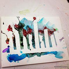 Chanukiot (Hebrew for Chanukah Menorahs) on watercolor paper Chanukiot (Hebrew . Chanukiot (Hebrew for Chanukah Menorahs) on watercolor paper Chanukiot (Hebrew for Chanukah Menora Hanukkah Crafts, Jewish Crafts, Hanukkah Menorah, Christmas Hanukkah, Happy Hanukkah, Hannukah, Christmas Activities For Kids, Holiday Crafts For Kids, Holiday Fun