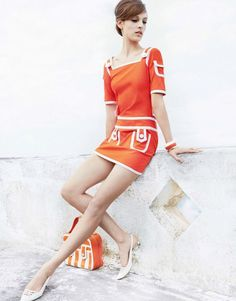 Dress & Bag: Moschino Uomo Fall/Winter 2013-14 | Model: Othilia Simon | Photographer: Julia Noni | Stylist: Aurora Sansone | Hair: Seb Bascle | Make-up: Topolino - for Vogue Japan, March 2013