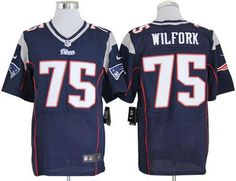 Nike Patriots #75 Vince Wilfork Navy Blue Team Color Men's Embroidered NFL Elite Jersey!$25.00USD Jerseys Nfl, Mlb Teams, Jersey Nike, Basketball Jersey, Baseball Gifts, Nike Nfl, Team Gifts, Perfect Man