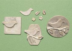 Components of a pendant made in metal clay