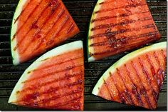 How to grill watermelon for a grilled salad