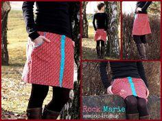 Rock Marie aus Feincord Girls love Daisies von HamburgerLiebe - made by Keko-Kreativ