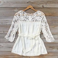 Distant Thunder Blouse, Sweet Cozy Lace