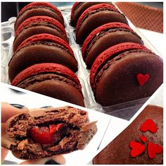 Dana's Bakery brings you traditional French macarons in fun American flavors! Local NYC delivery available Red Macarons, Cherry Cordial, Good Food, Yummy Food, Sweet Life, Delicious Desserts, Bakery, Goodies, Sweets