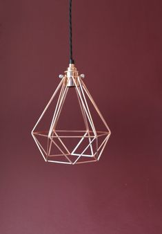 copper light cage marsala background