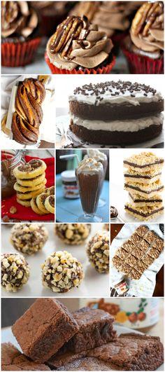 40+ Amazing Delicious Nutella Recipes - Food Blogger Recipe Round Up!