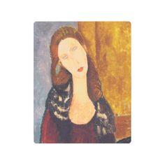 Jeanne Hebuterne portrait by Amedeo Modigliani Metal Print - elegant gifts gift ideas custom presents