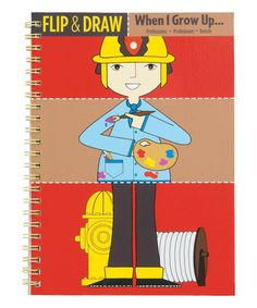 Another great find on #zulily! When I Grow Up Flip & Draw Book #zulilyfinds