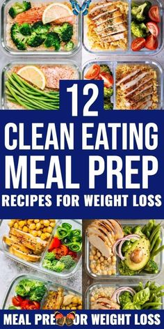 12 Clean Eating Recipes For Weight Loss: Meal Prep For The Week Lose weight & stay on budget with these clean eating recipes for weight loss! Meal prep these healthy lunches and clean eating dinners ahead to save time & enjoy weight loss & lose belly fat while enjoying delicious, clean eating food! From easy crockpot chicken to sheet pan vegetarian options these clean eating meal prep recipes will help you lose weight, save money & get healthy! #healthyrecipes #cleaneating<br> Clean Eating… Clean Eating Recipes For Weight Loss, Weight Loss Meal Plan, Weight Loss Drinks, Weight Loss Routine, Weight Loss Workout Plan, Weight Loss Challenge, Easy Weight Loss, Best Fat Burning Foods, Healthy Lunches
