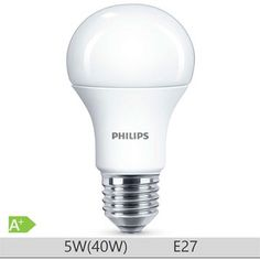 Bec LED Philips 5W E27 forma clasica A60, lumina neutra Led, Light Bulb, Lighting, Bulbs, Catalog, Lightbulbs, Light Globes, Lights