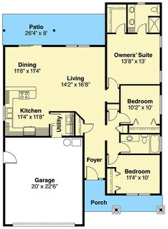 Bright, Compact, Country-style - 72590DA floor plan - Main Level