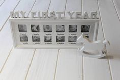 'My First Year' Photo Frame from notonthehighstreet.com