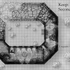 Ruined Fantasy Castle Map - top floor