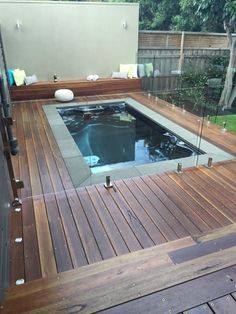 Indoor Swimming Pool Ideas - You want to build a Indoor swimming pool? Here are some Indoor Swimming Pool designs and ideas for you. Small Swimming Pools, Small Backyard Pools, Backyard Pool Designs, Small Pools, Swimming Pool Designs, Pool Landscaping, Backyard Ideas, Lap Swimming, Small Backyards