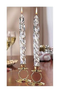 Glass Oil Spiral Tapers 8 Pair Candles w 2 SILVER Plaited Candle Holders *** Learn more by visiting the image link.Note:It is affiliate link to Amazon.