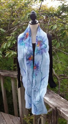 Nuno felted scarf by Kristin Hyde http://artpassion.etsy.com...SOLD