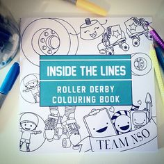 Image of Inside the Lines - Roller Derby colouring book