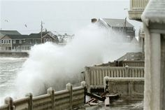 22 centimetres of snow, cancelled flights and road closures to the Atlantic provinces, Halifax residents seemed largely unimpressed by Mother Nature's fury Saturday.       Waves crash into houses on Lighthouse Road during a winter nor'easter snow storm in Scituate, Massachusetts January 3, 2014.