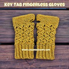 Calleigh's Clips & Crochet Creations: Free Crochet Pattern - Key Tab Fingerless Gloves